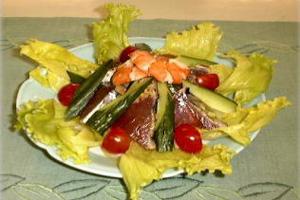 鰹のドレッシングサラダ