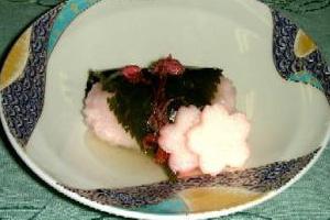 海老の丸桜蒸し
