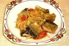 秋刀魚と馬鈴薯枝豆和え