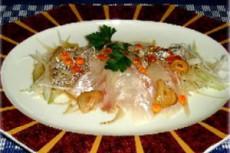 鯛の刺身中華風サラダ