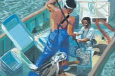 『白子漁港で働く人々』