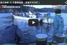 三重県の漁業 05 定置網漁業(尾鷲市早田町)【動画】