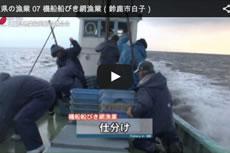 三重県の漁業 07 機船船びき網漁業(鈴鹿市白子)【動画】